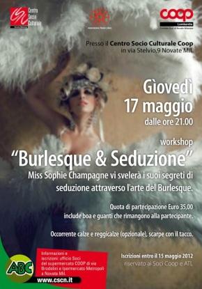 "Workshop ""Burlesque & Seduzione"" con Miss SophieChampagne"