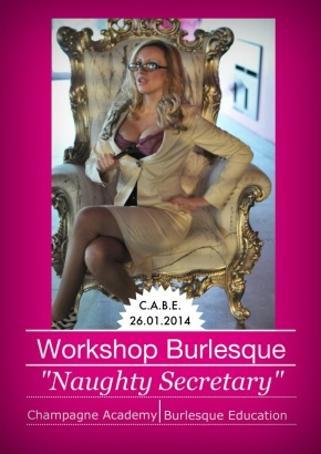 "Workshop Burlesque ""Naughty Secretary"" con Miss Sophie Champagne"