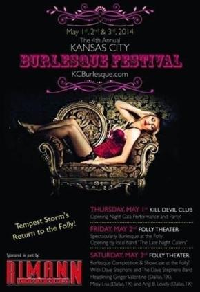 Il burlesque italiano di Miss Sophie Champagne per la seconda volta al Kansas City BurlesqueFestival
